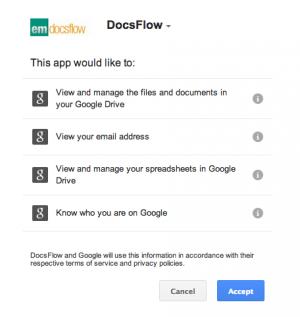 DocsFlow OAuth prompt