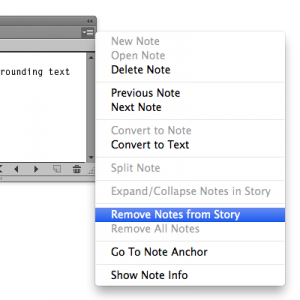 WordsFlow Remove notes menu