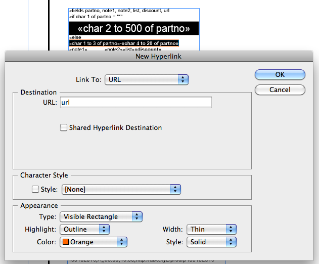Adding a URL Hyperlink