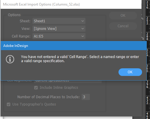 InDesign Rejects Custom Excel Cell Ranges » Em Software